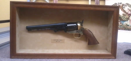 colt revolver shadow box